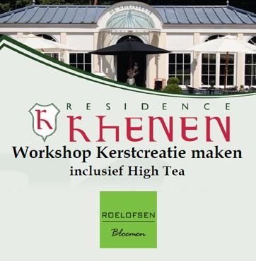 Workshop kerstcreatie maken inclusief high tea in Veenendaal