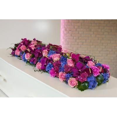 Kistbedekking paars roze