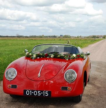 Bruidsbloemen autoversiering Veenendaal Anko & Martine