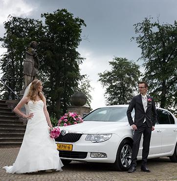 Bruidsbloemen autoversiering Veenendaal Hans en Sanne