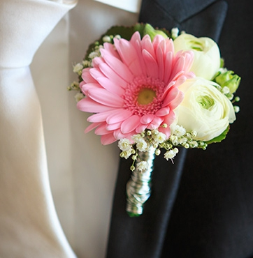 Bruidscorsage Veenendaal Bert en Lisette