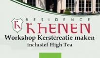 Workshop kerstcreatie maken inclusief high tea