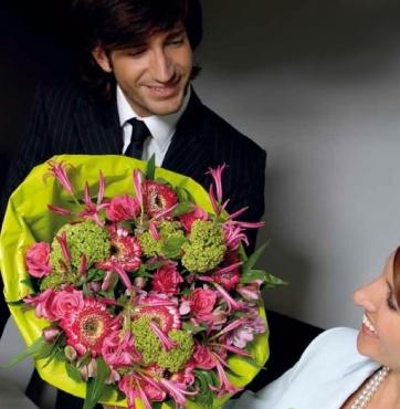 Bloemen op kantoor